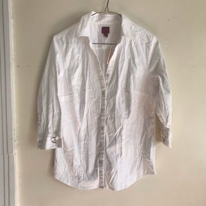 212 Collection White Collared Blouse